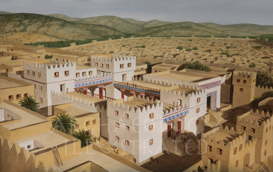 Illustration of the City Hazor